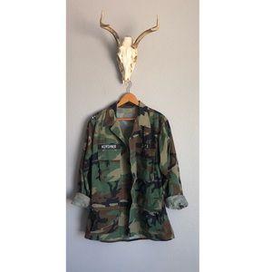 Military Camo Utility Coat
